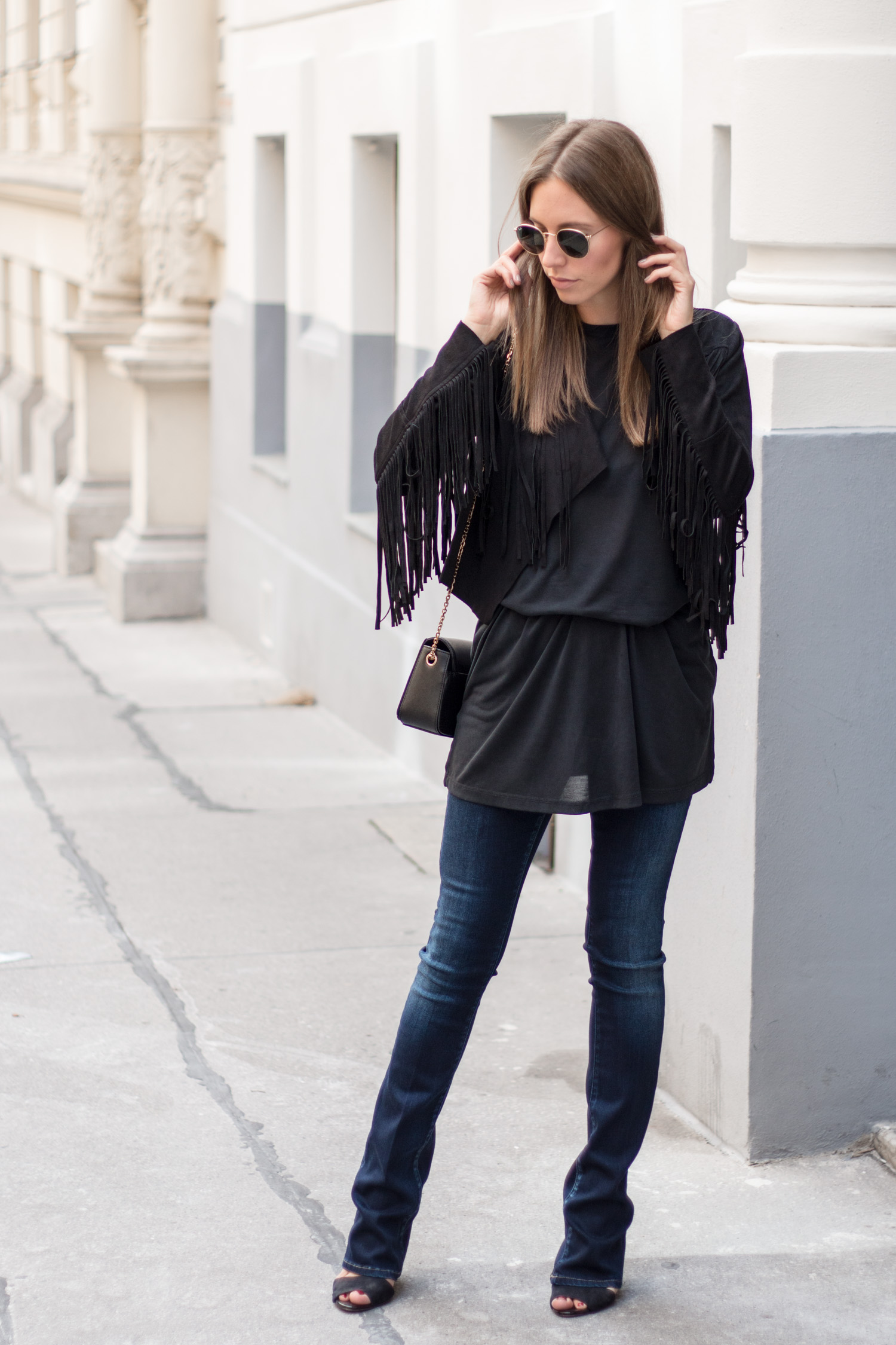 Black Fringe Jacket